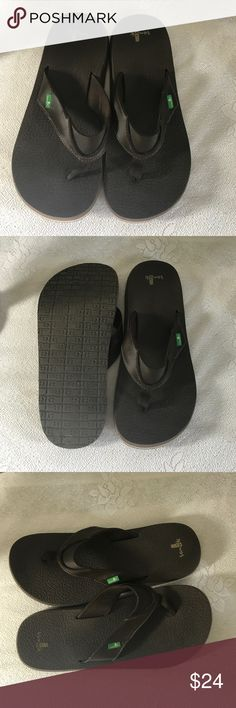 SANUK Beer Cozy Flip Flops never worn sz 11 Size 11 new without the box. Size 11 Sanuk Shoes Sandals & Flip-Flops
