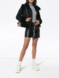 8e3a60daf89 Heron Preston Handle With Care high waist leather mini skirt  635 - Buy SS19  Online -
