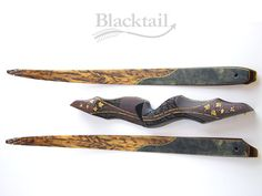 Hand-carved, hand-engraved Legacy series recurve bow by Blacktail Bow Company, LLC.