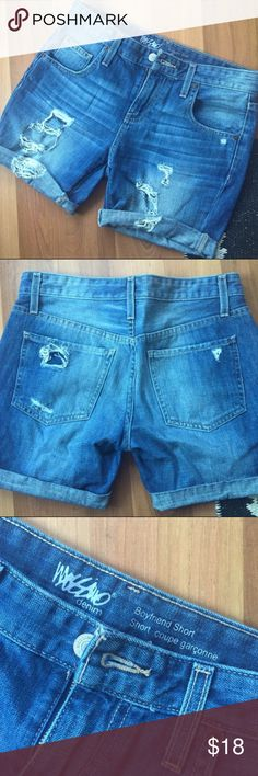 Boyfriend shorts! Excellent condition! Very cute riped look. Could fit sizes around it.    Not real brandy just listed for views :) make an offer! Urban Outfitters Shorts Jean Shorts