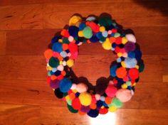 Funky Fun Felt ball wreath! DIY