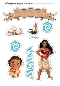How to print the top of paper cake? Print on paper weighing to as the Cake Top becomes firmer. Moana Party, Moana Themed Party, Moana Birthday Party, Girl Birthday, Birthday Parties, Cake Birthday, Moana Hawaiian, Festa Moana Baby, Paper Cake