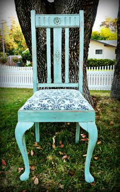 Beautiful Shabby Chic Chair by DruryTreasures on Etsy