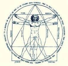 Bildergebnis für vitruvian man meditating