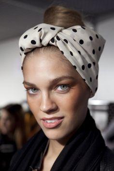 #turban, #polka_dots