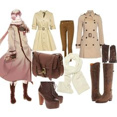 hetalia clothing style | fashion look from June 2012 featuring Jaeger dresses, Burberry coats ...