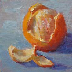 "Daily Paintworks - ""Birthday Orange"" - Original Fine Art for Sale - © Carol Myer"