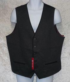 Alfani Red Vest slim fit stretch knit polyester black solid men's size XL NEW  29.99 http://www.ebay.com/itm/Alfani-Red-Vest-slim-fit-stretch-knit-polyester-black-solid-men-039-s-size-XL-NEW-/331522360347?