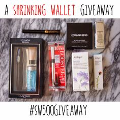 Shrinking Wallet... I may have a problem...: An instagram giveaway - Celebrating 500 instagram followers