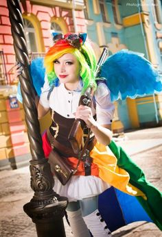 Steampunk Tendencies | My Little Pony Rainbow Dash - Cosplayer : Furuko Yoiko - Photo : Eva #Cosplay #Steampunk