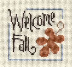 finished completed cross stitch LIZZIE KATE welcome fall PREORDER