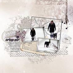 Crisp-air. Digital scrapbooking layout by Renate, using Studio Romy products. #digitalscrapbooking #layout #scrapbook #studioromy #digitalart