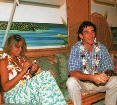 Adriane Galisteu e Ayrton Senna em Bora Bora no Taiti, ilha da Polinésia…