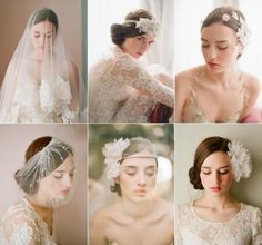 Bridal hair accessories - elegant, old-fashioned beauty! Bridal Hair And Makeup, Bridal Beauty, Wedding Beauty, Dream Wedding, Wedding Girl, Wedding Makeup, Wedding Headband, Bridal Hair Accessories, Bride Hairstyles