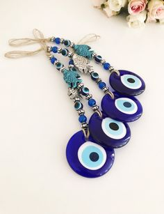 Nazar Boncuk Charm Pendentif pour bracelet breloques Beads mauvais oeil perles