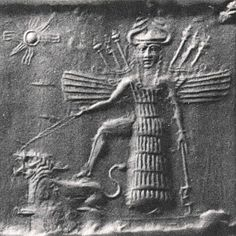 Inanna (Ishtar) Part 1 (Warning: Long post! You've probably heard about the goddess Ishtar. Her Sumerian name is Inanna. Ancient Goddesses, Gods And Goddesses, Ancient Mesopotamia, Ancient Civilizations, Ishtar Goddess, Aliens History, Maleficarum, Beautiful Dark Art, Mexica