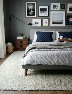 A bright shade of gray can enlighten your feeling whenever you enter your gray bedroom. While the dark tone of gray can make your sleeps peaceful. We have 30 gray bedroom ideas that . Read Elegant Gray Bedroom Ideas 2020 (For Calming Bedroom) Upholstered Platform Bed, Bed Platform, Upholstered Walls, Tufted Bed, My New Room, Home Decor Bedroom, Bedroom Furniture, Bedding Decor, Bedroom Modern