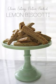 Clean Eating Lemon Biscotti with Protein Recipe | All Sorts of Pretty