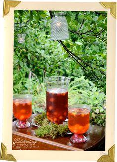 Sangria bar, Dinner in A Secret Garden {enchanting outdoor entertaining}
