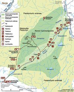 Kevon reitin kartta © Metsähallitus 2014