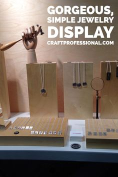 Love this simple jewelry display. Click through for hundreds of craft booth photos - http://www.craftprofessional.com/display-booth.html