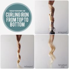 curling iron working from top to bottom