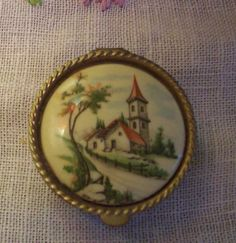 Antique Porcelain Pill Box