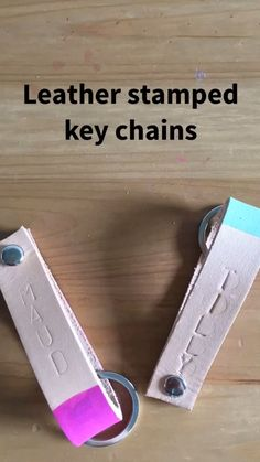 Leather Stamped Keychains