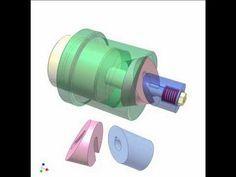 Slider-crank mechanism for adjusting stroke position 2 - YouTube