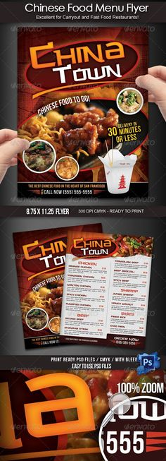 Chinese Restaurant Menu Flyers   Options  Ai Illustrator Chinese