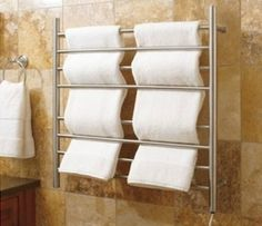 SPA-oritize Your Home Bath - #4 - The Myson Wall-Mounted Towel Warmer is an easy install for any bath, and one spa-like amenity that the whole family will enjoy.
