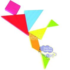 Tangram, Tagram de madeira, tangram de madeira colorido, tangram newart do Brasil, tagram brinquedo educativo, tagram regras