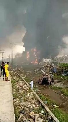 Breaking News: Explosion At Abule-ado, Amuwo Odofin LGA, Off Lagos Badagry Expressway-operanewsapp Railroad Tracks, Train, Strollers, Train Tracks