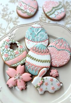 Easter cookies by Sugarcat #eastercookie