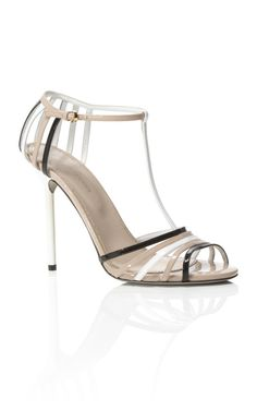 Sergio Rossi Gleam Flat Sandal (Resort 2013)