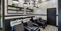 Our latest salon fit out for Hare & Bone salon in Esher, Surrey. Reis design created the salon interior design Retail Interior Design, Monochrome Color, Spa Design, Urban Industrial, Architectural Features, Hare, Designers, Relax, Architecture