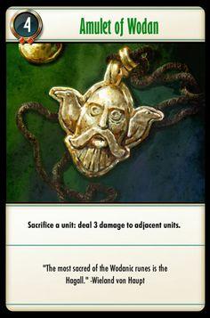 Amulet of Wodan Runes, Card Games, Battle, Magic, Cards, Maps, Playing Cards, Playing Card Games