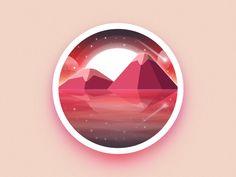 Mountains badge by Julien #Design Popular #Dribbble #shots