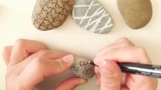#3 - Stone with simple patterns STONE ART - Steine bemalen