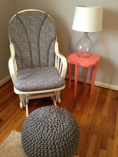 diy glider recovering for baby girlu0027s nursery rocking chair