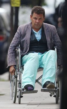 Craig Charles was still in his hospital gown
