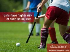 Did you know: overuse injuries are more common in high school girls than boys? In analyzing 3,000 male and female high school athletes participating in 20 different sports, researchers found that overuse injuries represented 7.7% of injuries overall, but rates among girls and boys differed significantly, with overuse injuries representing 13.3% of all injuries for girls compared to only 5.5% for boys.