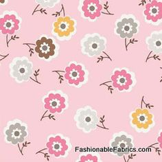 Fabric... Daisy Cottage Mini Floral on Pink by Riley Blake Designs