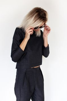 All black minimal chic style Minimal Chic, Minimal Fashion, Minimal Classic, Neue Outfits, Style Outfits, Work Outfits, Style Noir, Mode Style, Street Looks