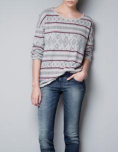 FINE KNIT STRIPED SWEATER - T-shirts - TRF - ZARA Turkey