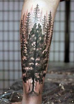 Men's leg tattoos