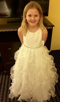 She said YES to the first communion dress!