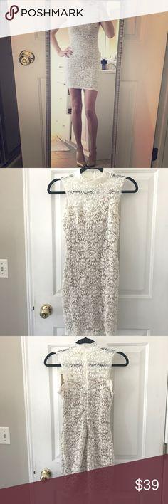Soprano - White Lace Illusion Dress Soprano - White Lace Illusion Dress  High neck Zip back  Size: S  New with tags Smoke-free home Soprano Dresses Mini