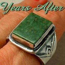 Signed OLD PAWN Vintage NATIVE American Ring Navajo SOLID Sterling Silver Band 11.5 Grams c.1940's