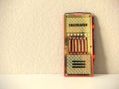Old School Calculator Add Subtract and by VintageRetrievers, $12.95